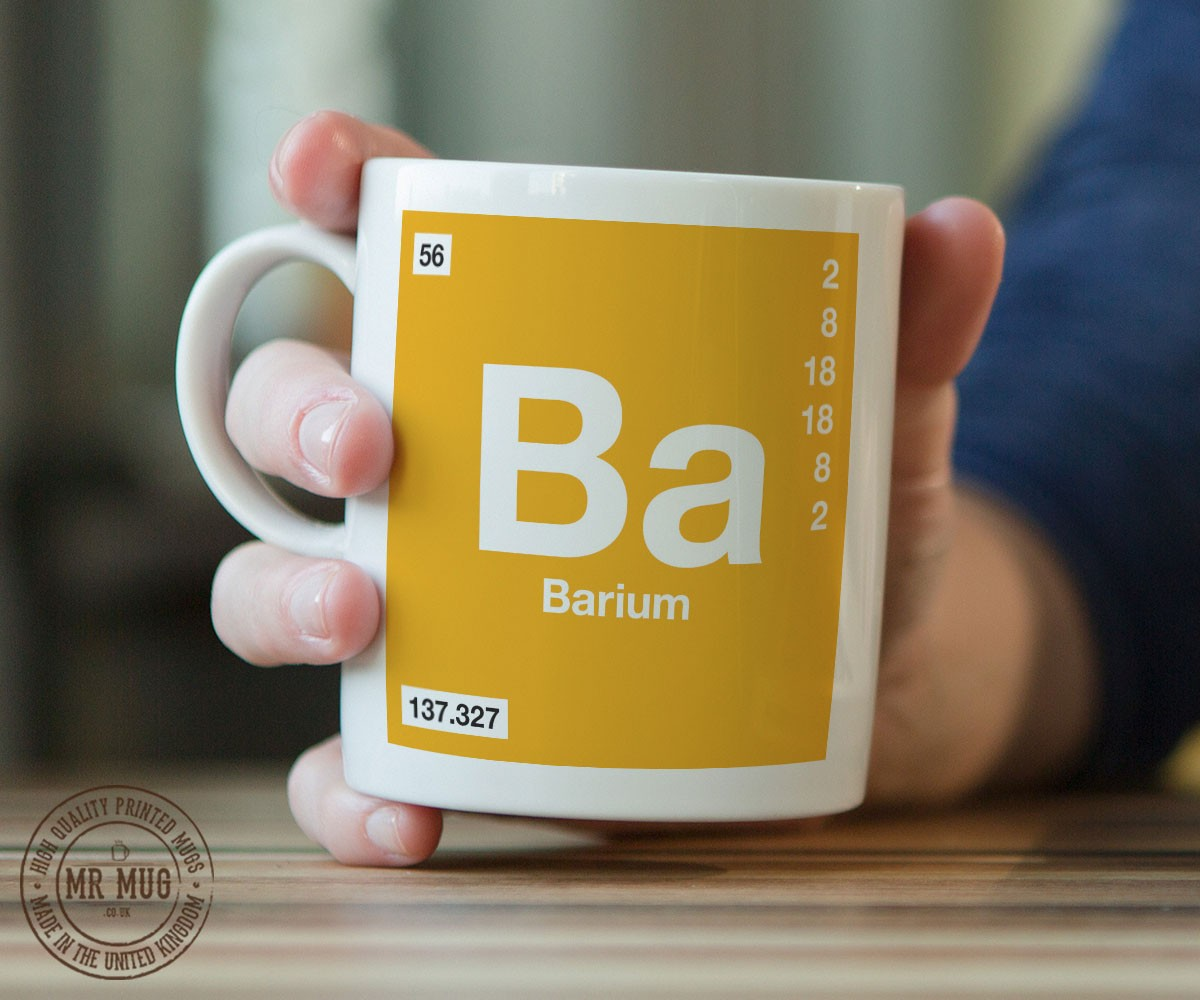 Scientific mug featuring the element and symbol barium printed scientific mug featuring the element and symbol barium printed ceramic mug biocorpaavc Images