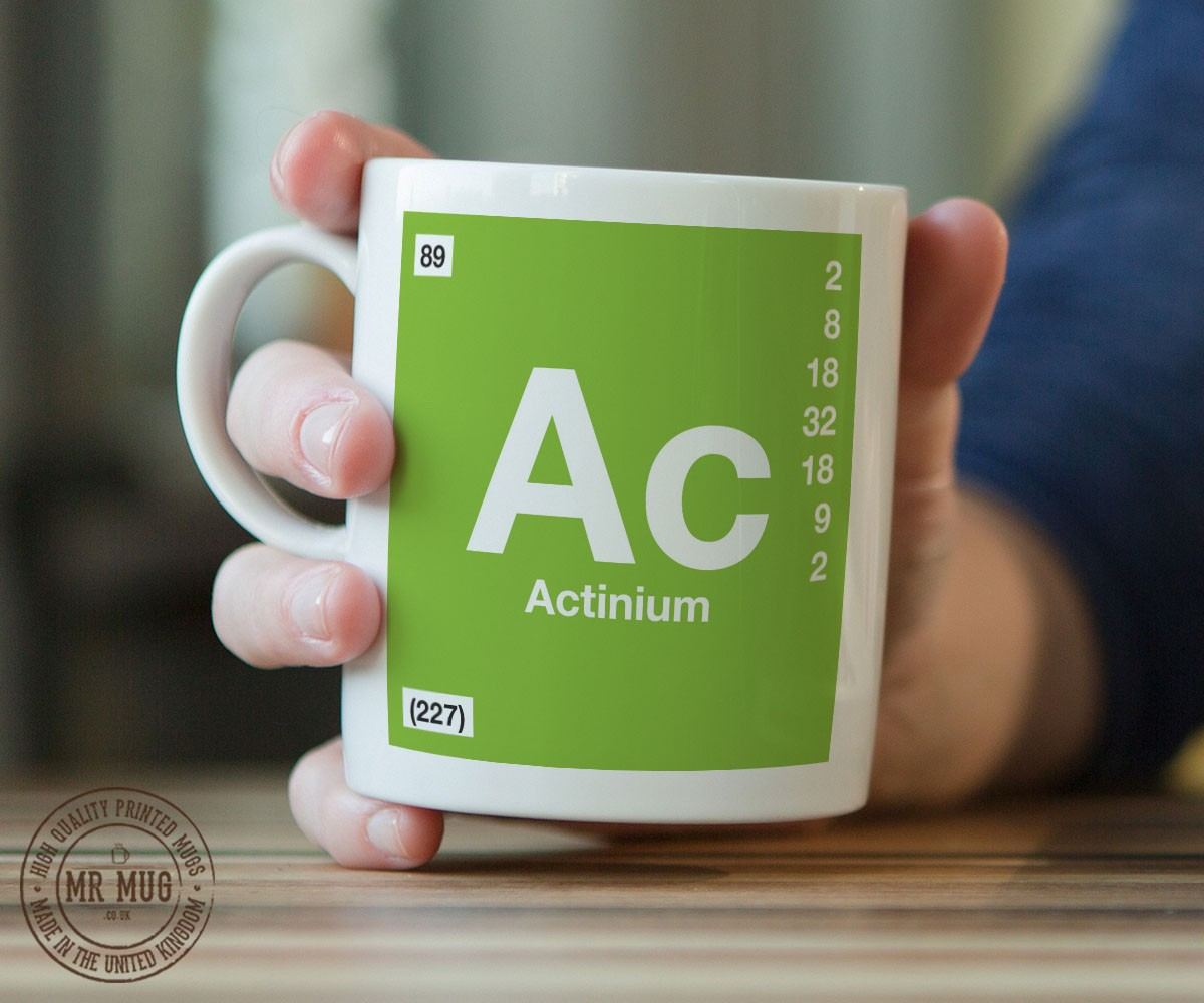 Scientific Mug Featuring The Element And Symbol Actinium Printed