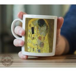 Gustav Klimt - The Kiss - Printed Ceramic Mug