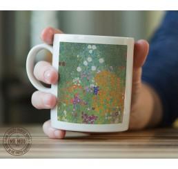 Gustav Klimt - Bauerngarten - Printed Ceramic Mug