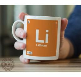 Scientific Mug featuring the Element and Symbol Lithium - Printed Ceramic Mug
