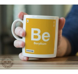Scientific Mug featuring the Element and Symbol Beryllium - Printed Ceramic Mug