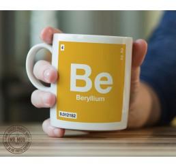 Scientific Mug featuring the Element and Symbol Beryllium - Printed Ceramic Mug