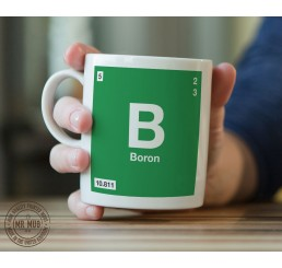 Scientific Mug featuring the Element and Symbol Boron - Printed Ceramic Mug