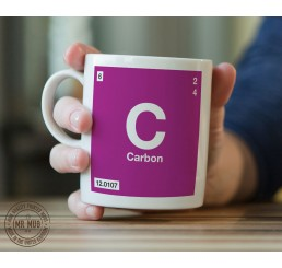 Scientific Mug featuring the Element and Symbol Carbon - Printed Ceramic Mug