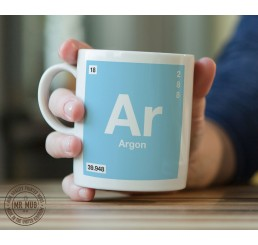 Scientific Mug featuring the Element and Symbol Argon - Printed Ceramic Mug