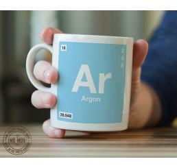 Scientific Mug featuring the Element and Symbol Argon - Printed Ceramic Mug