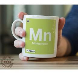 Scientific Mug featuring the Element and Symbol Manganese - Printed Ceramic Mug