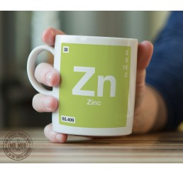 Scientific Mug featuring the Element and Symbol Zinc - Printed Ceramic Mug