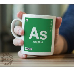 Scientific Mug featuring the Element and Symbol Arsenic - Printed Ceramic Mug