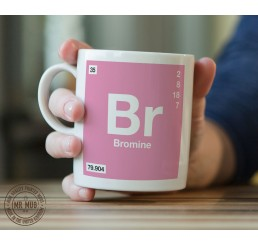 Scientific Mug featuring the Element and Symbol Bromine - Printed Ceramic Mug