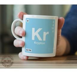 Scientific Mug featuring the Element and Symbol Krypton - Printed Ceramic Mug
