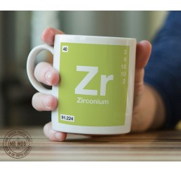Scientific Mug featuring the Element and Symbol Zirconium - Printed Ceramic Mug