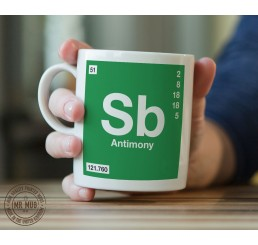 Scientific Mug featuring the Element and Symbol Antimony - Printed Ceramic Mug
