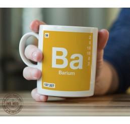 Scientific Mug featuring the Element and Symbol Barium - Printed Ceramic Mug