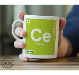 Scientific Mug featuring the Element and Symbol Cerium - Printed Ceramic Mug