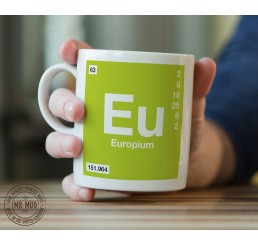 Scientific Mug featuring the Element and Symbol Europium - Printed Ceramic Mug