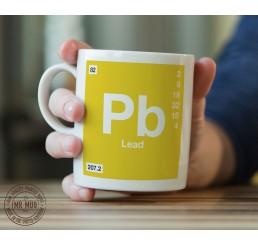Scientific Mug featuring the Element and Symbol Lead - Printed Ceramic Mug