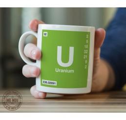 Scientific Mug featuring the Element and Symbol Uranium - Printed Ceramic Mug