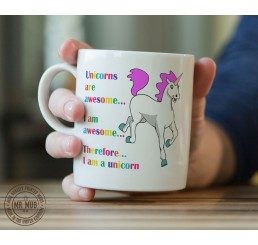 Unicorns Are Awesome - Printed Ceramic Mug