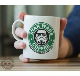 Star Wars Coffee - May the froth be with you - Printed Ceramic Mug