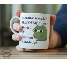 H.o.m.e.w.o.r.k = - Printed Ceramic Mug