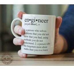 Definition of an engineer - Printed Ceramic Mug
