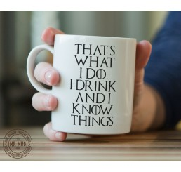 Game Of Thrones Tyrion Quote Mug 'Drink And Know Things' - Printed Ceramic Mug